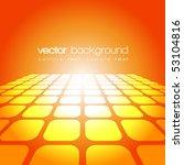 vector 3d square on the orange... | Shutterstock .eps vector #53104816