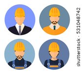 set of avatars of the builders. ... | Shutterstock .eps vector #531048742