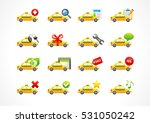 vector icons online taxi phone... | Shutterstock .eps vector #531050242