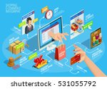 online shopping ecommerce 24... | Shutterstock .eps vector #531055792