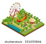 amusement park isometric... | Shutterstock .eps vector #531055846