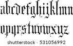 gothic vintage  font   vector | Shutterstock .eps vector #531056992