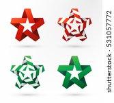 set of modern colorful... | Shutterstock .eps vector #531057772