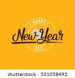 happy new year 2017 text design....   Shutterstock .eps vector #531058492