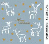christmas deer. a set of... | Shutterstock .eps vector #531058648