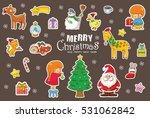 christmas pattern  adorable... | Shutterstock .eps vector #531062842