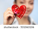 cardiologist drawing heart ...   Shutterstock . vector #531063106