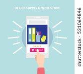 office supply website store.... | Shutterstock .eps vector #531064846