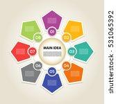 vector infographic. template... | Shutterstock .eps vector #531065392