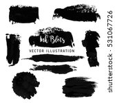 black paint strokes. abstract...   Shutterstock .eps vector #531067726