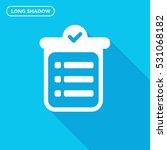 to do list vector icon  notes... | Shutterstock .eps vector #531068182