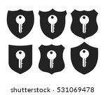 shield with key icon set  | Shutterstock . vector #531069478