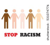 stop racism icon. motivational... | Shutterstock .eps vector #531074776