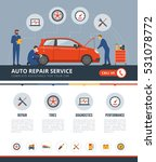 auto repair service infographic ... | Shutterstock .eps vector #531078772