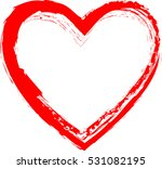 set of hearts . grunge stamps... | Shutterstock .eps vector #531082195
