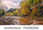 wonderful autumn sunny day.... | Shutterstock . vector #531082306