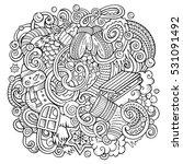 cartoon cute doodles hand drawn ... | Shutterstock .eps vector #531091492