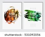 flyer layout template. vector... | Shutterstock .eps vector #531092056