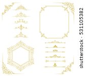 big set of vintage elements.... | Shutterstock .eps vector #531105382