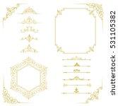 big set of vintage elements.... | Shutterstock .eps vector #531105382