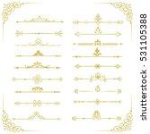 set of vector decorative... | Shutterstock .eps vector #531105388