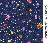 seamless pattern gift box for... | Shutterstock .eps vector #531106492