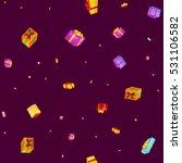 seamless pattern gift box for... | Shutterstock .eps vector #531106582