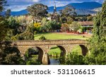 Bridge and townscape of Richmond in Tasmania, Australia