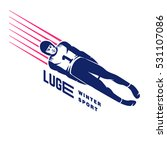 luge sport. emblem | Shutterstock .eps vector #531107086