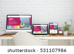 multidevice desktop with fresh... | Shutterstock . vector #531107986