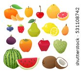 cute and tasty fruits... | Shutterstock .eps vector #531108742