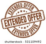 extended offer. stamp. brown... | Shutterstock .eps vector #531109492