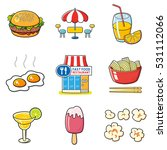 fast food icons set isolated.... | Shutterstock .eps vector #531112066
