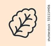 leaf lettuce plant minimal flat ... | Shutterstock .eps vector #531114406