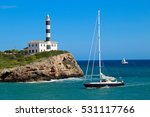 Sailing Yacht In Front Of A...