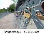 Padlock On The Bridge   Love