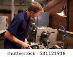 male engineer in factory using... | Shutterstock . vector #531121918