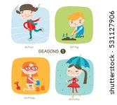 seasons child's outdoor... | Shutterstock .eps vector #531127906