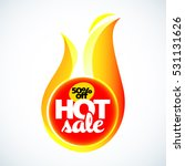 hot sale banner. this weekend... | Shutterstock .eps vector #531131626