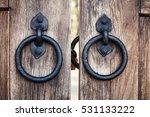 old style metal door handle... | Shutterstock . vector #531133222