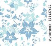 seamless flowers pattern   Shutterstock .eps vector #531137632