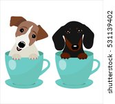 jack russell terrier and... | Shutterstock .eps vector #531139402