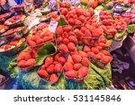 fresh strawberries at the... | Shutterstock . vector #531145846