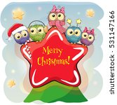 greeting christmas card five... | Shutterstock .eps vector #531147166