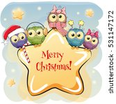 greeting christmas card five... | Shutterstock .eps vector #531147172