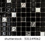 Black And Silver Square Patter...