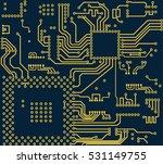 high tech circuit board vector...   Shutterstock .eps vector #531149755