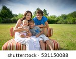 happy mother and children a park | Shutterstock . vector #531150088
