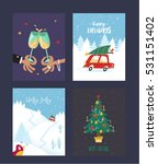set of christmas and new year's ... | Shutterstock .eps vector #531151402