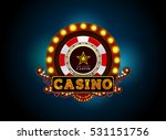 casino neon light sign ... | Shutterstock .eps vector #531151756